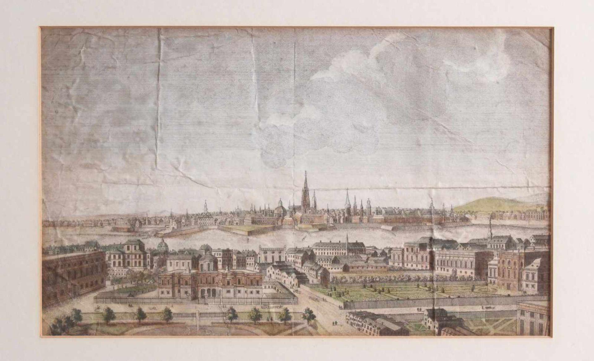 Kupferstich aus dem 18. Jahrhundert, A general view of the City of Vienna, anonymer - Bild 2 aus 4