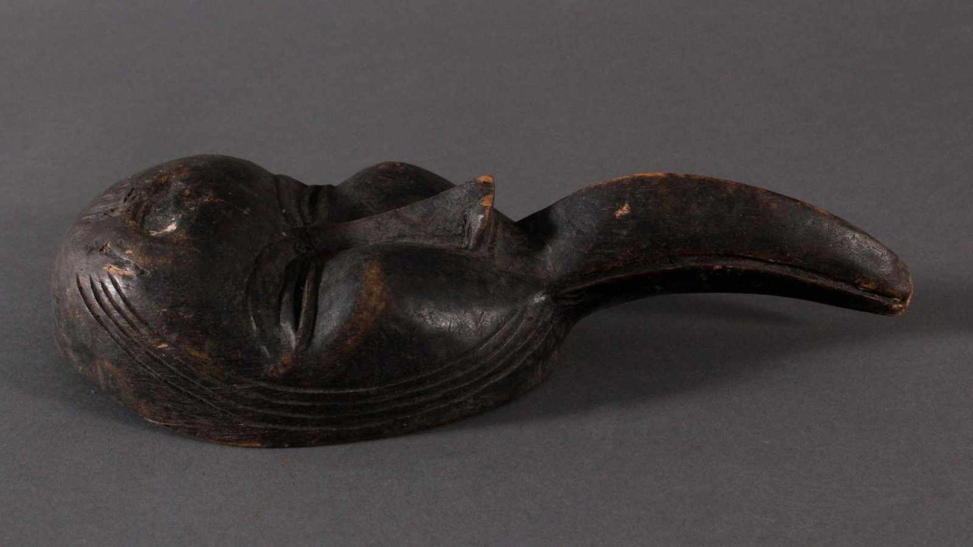 Antike Maske, Dan, Liberia 1. Hälfte 20. Jh.Holz geschnitzt, dunkle Patina, Schnabelmaske, ca. 6 x - Bild 2 aus 6