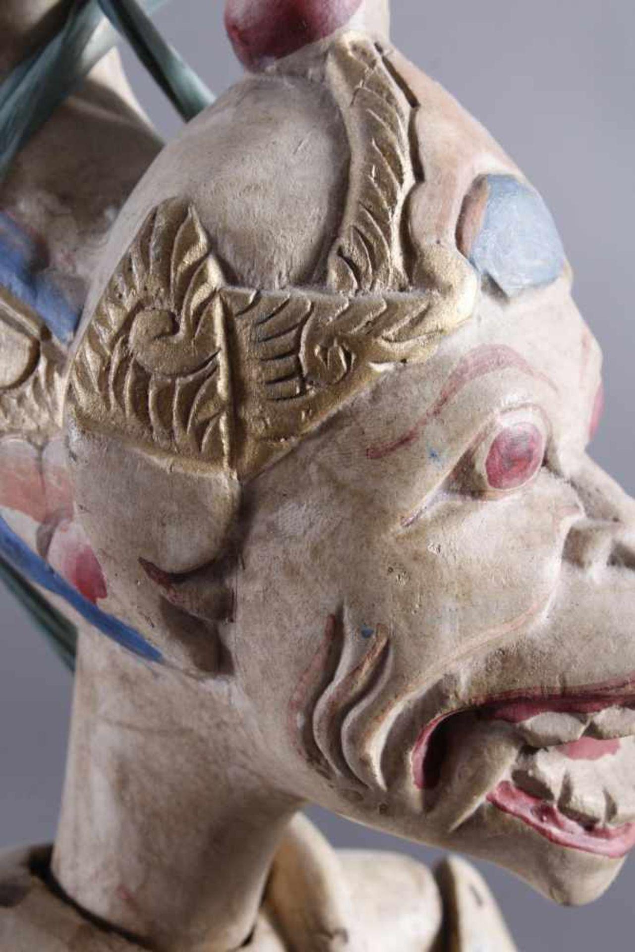 Indonesische Marionette und Maske aus der 1. Hälfte des 19. JahrhundertsGlieder und Kopf der - Bild 5 aus 11