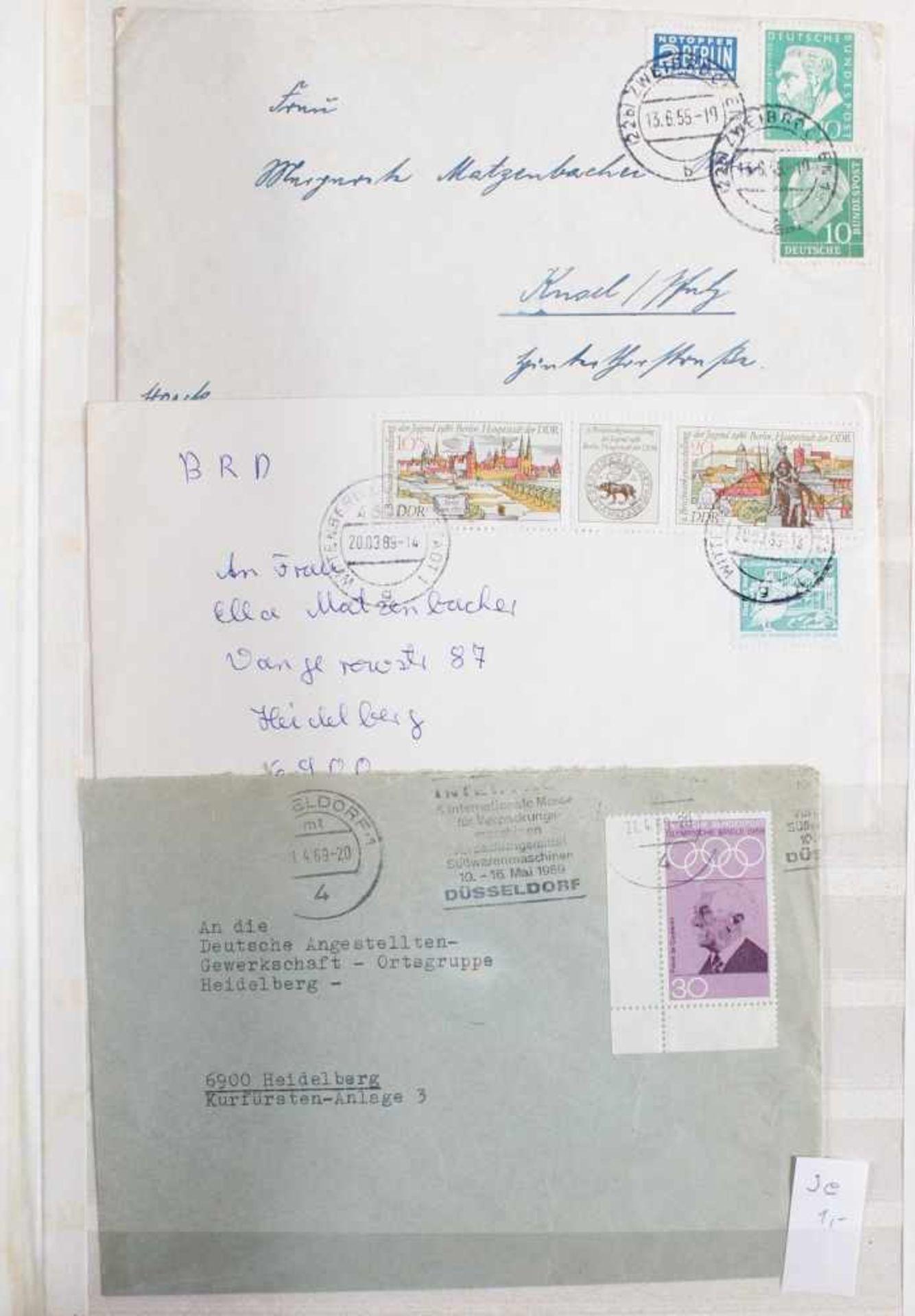 Kleine Sammlung Belege, Ganzsachen und BriefeInsgesamt 3 gut gefüllte Alben.1 Album Briefe, - Bild 6 aus 7