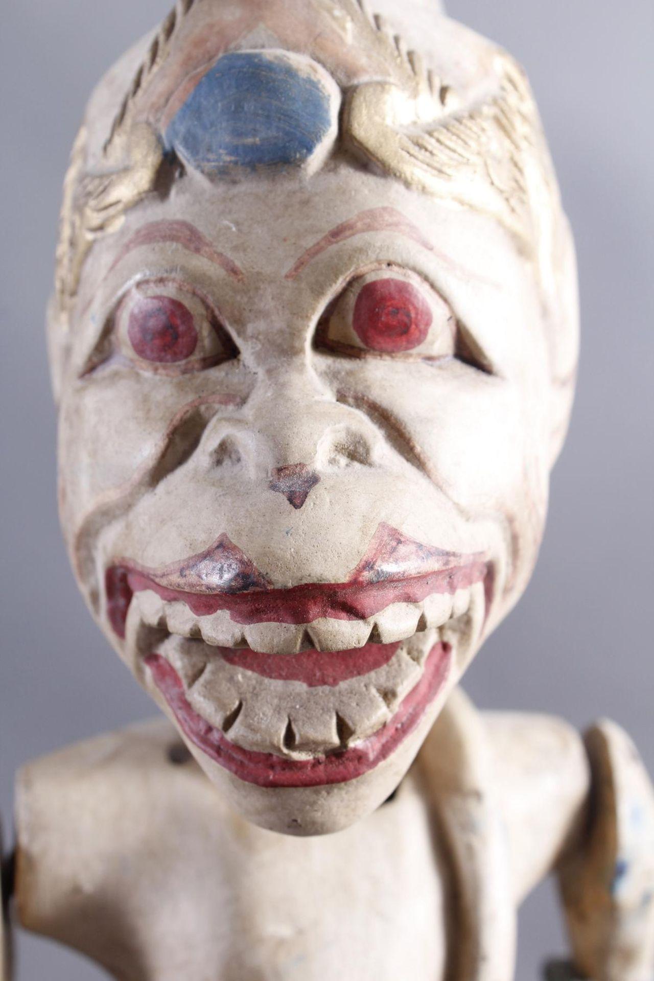 Indonesische Marionette und Maske aus der 1. Hälfte des 19. JahrhundertsGlieder und Kopf der - Bild 2 aus 11