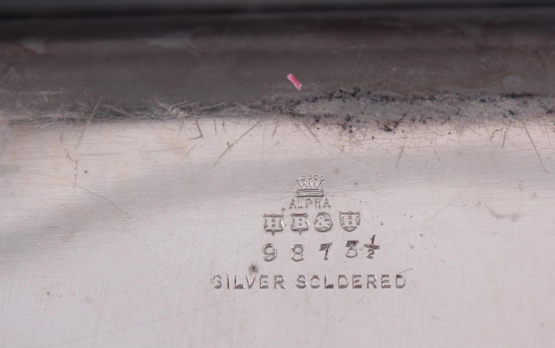 Los 1652 - Zwei Anbietschalen, versilbert um 19001x mit Firmenstempel Harrison Brothers & Howson. Rechteckige