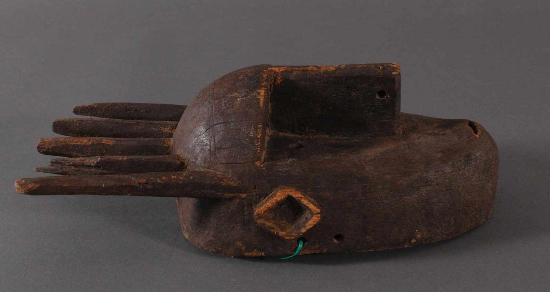 Antike Maske, Marka, Mali 1.Hälfte 19. Jh.Holz geschnitzt, spitz ovales, schlankes Gesicht mit - Bild 2 aus 6