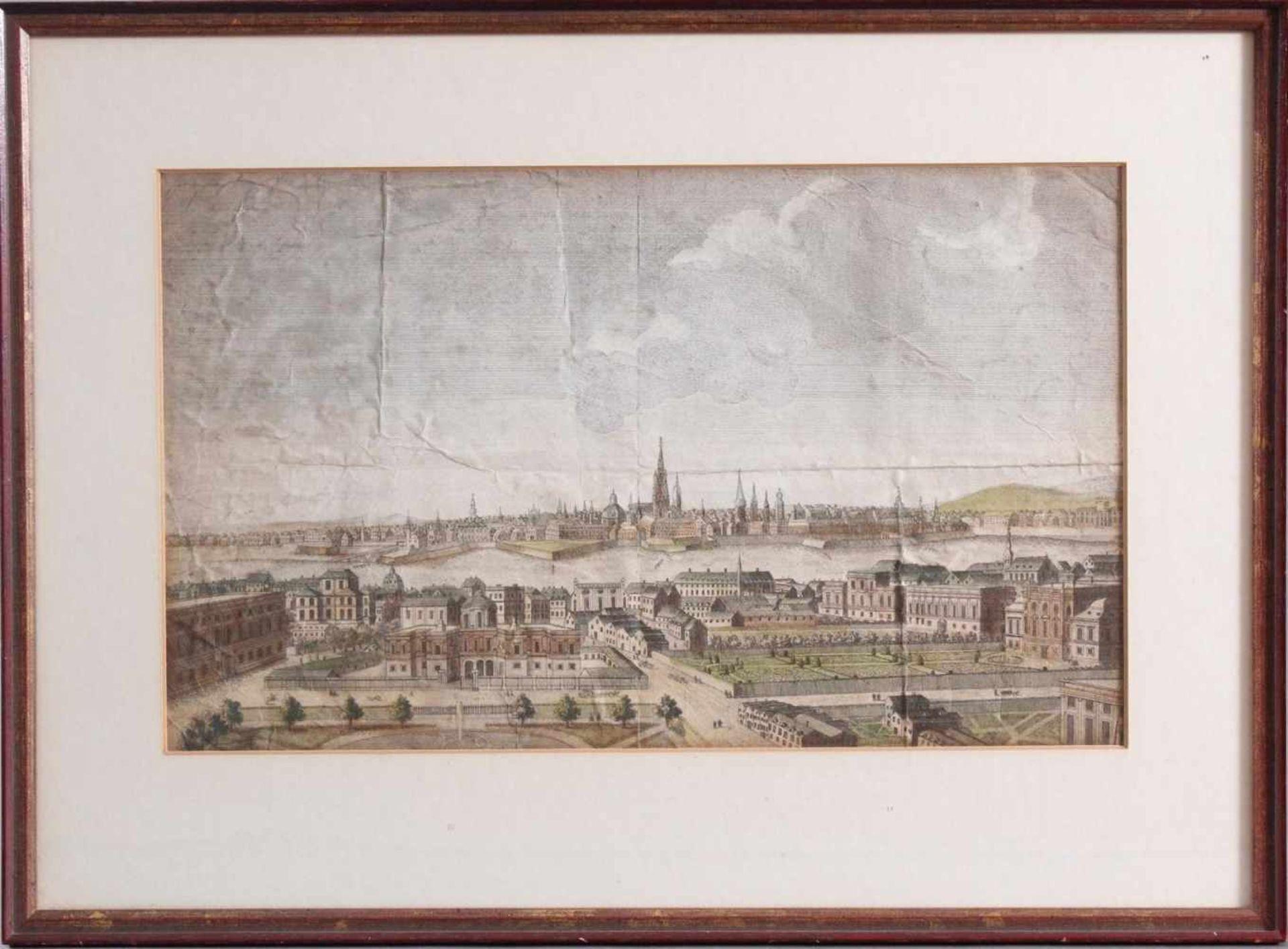 Kupferstich aus dem 18. Jahrhundert, A general view of the City of Vienna, anonymer
