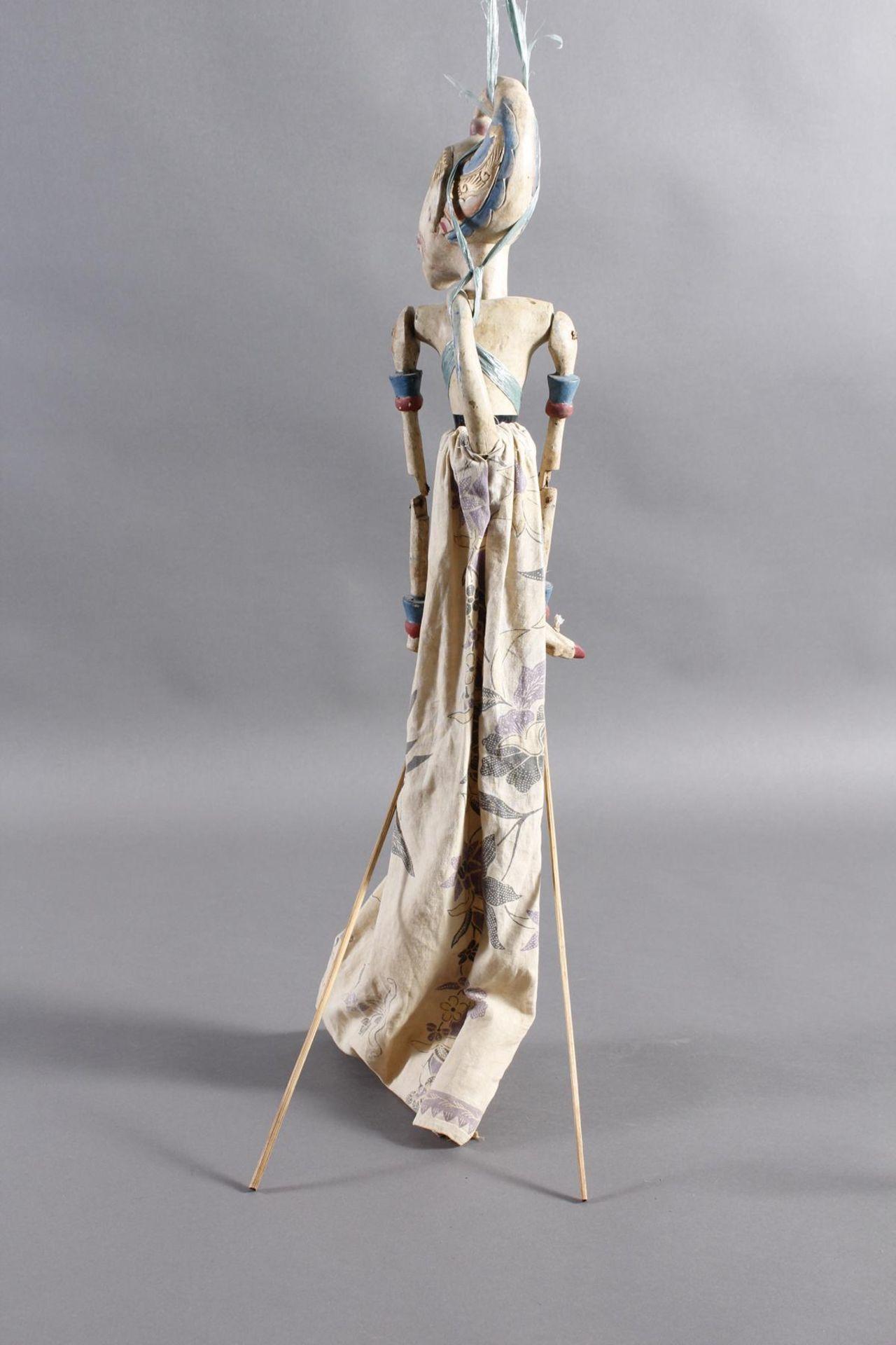 Indonesische Marionette und Maske aus der 1. Hälfte des 19. JahrhundertsGlieder und Kopf der - Bild 9 aus 11