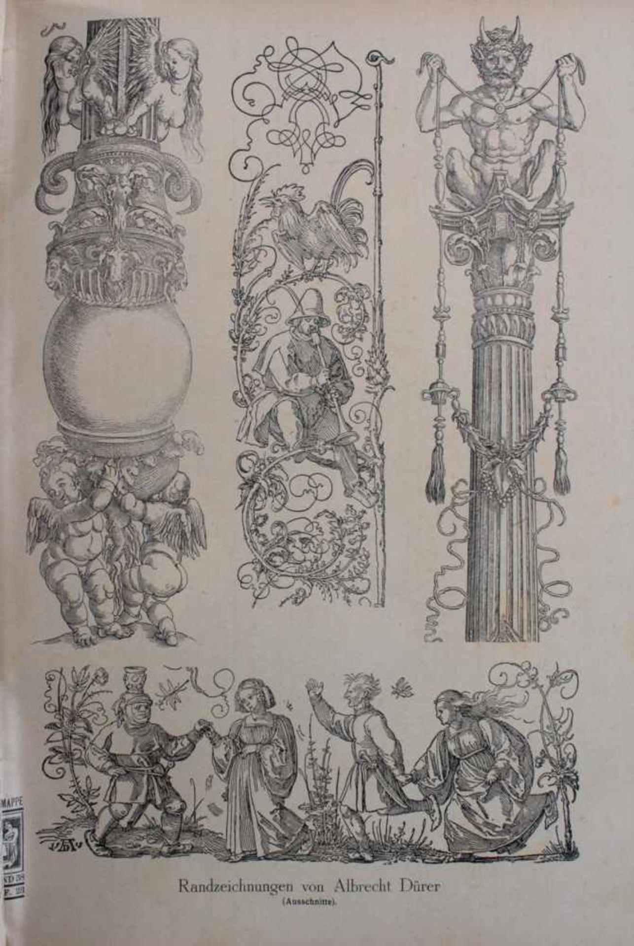 Die Malerzeitung. Die Mappe gebunden in einem BuchVorlagen für unterschiedliche Bemalungen wie - Bild 2 aus 3