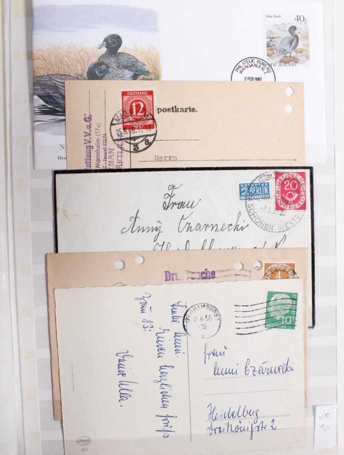 Kleine Sammlung Belege, Ganzsachen und BriefeInsgesamt 3 gut gefüllte Alben.1 Album Briefe, - Bild 7 aus 7