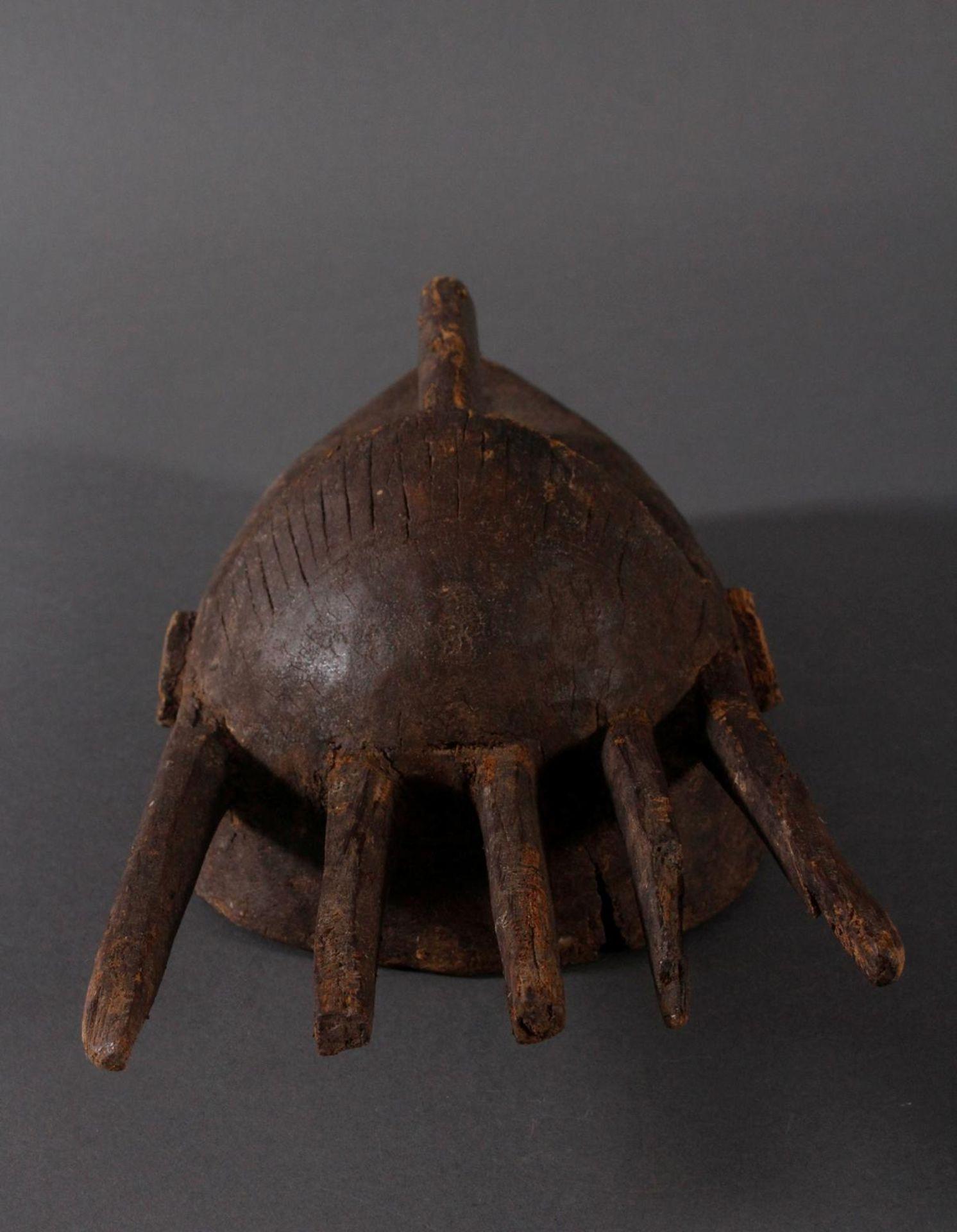Antike Maske, Marka, Mali 1.Hälfte 19. Jh.Holz geschnitzt, spitz ovales, schlankes Gesicht mit - Bild 5 aus 6