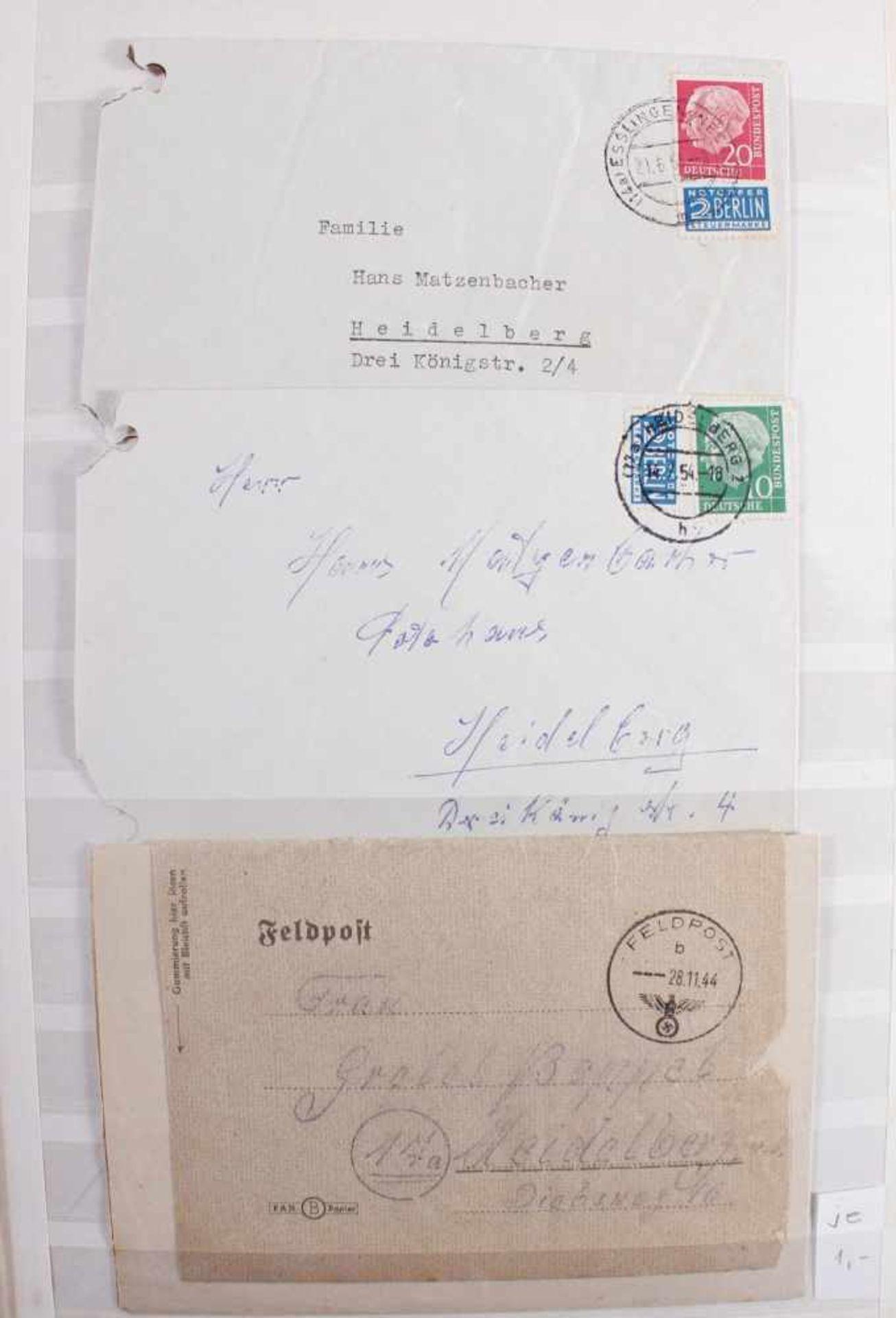 Kleine Sammlung Belege, Ganzsachen und BriefeInsgesamt 3 gut gefüllte Alben.1 Album Briefe, - Bild 5 aus 7