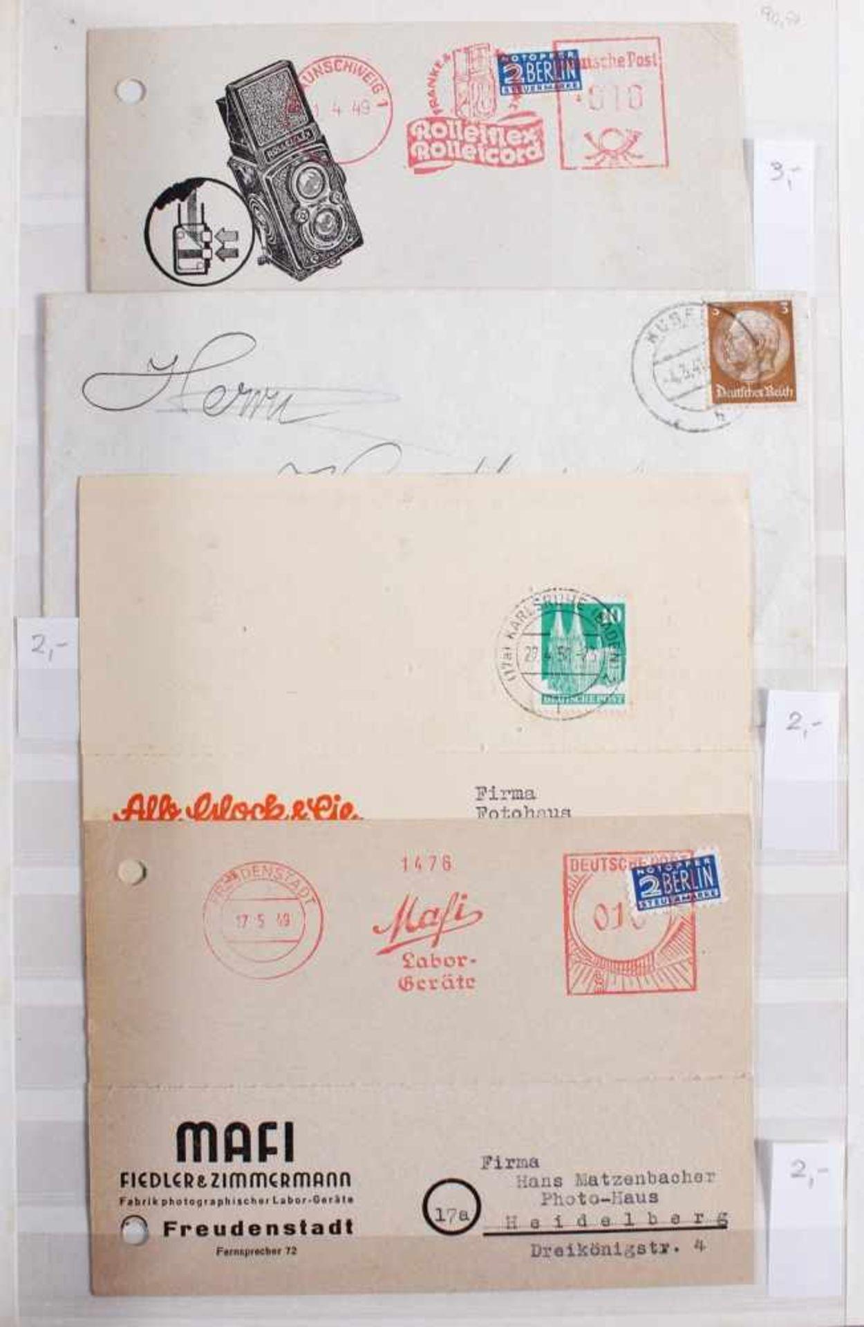 Kleine Sammlung Belege, Ganzsachen und BriefeInsgesamt 3 gut gefüllte Alben.1 Album Briefe, - Bild 4 aus 7