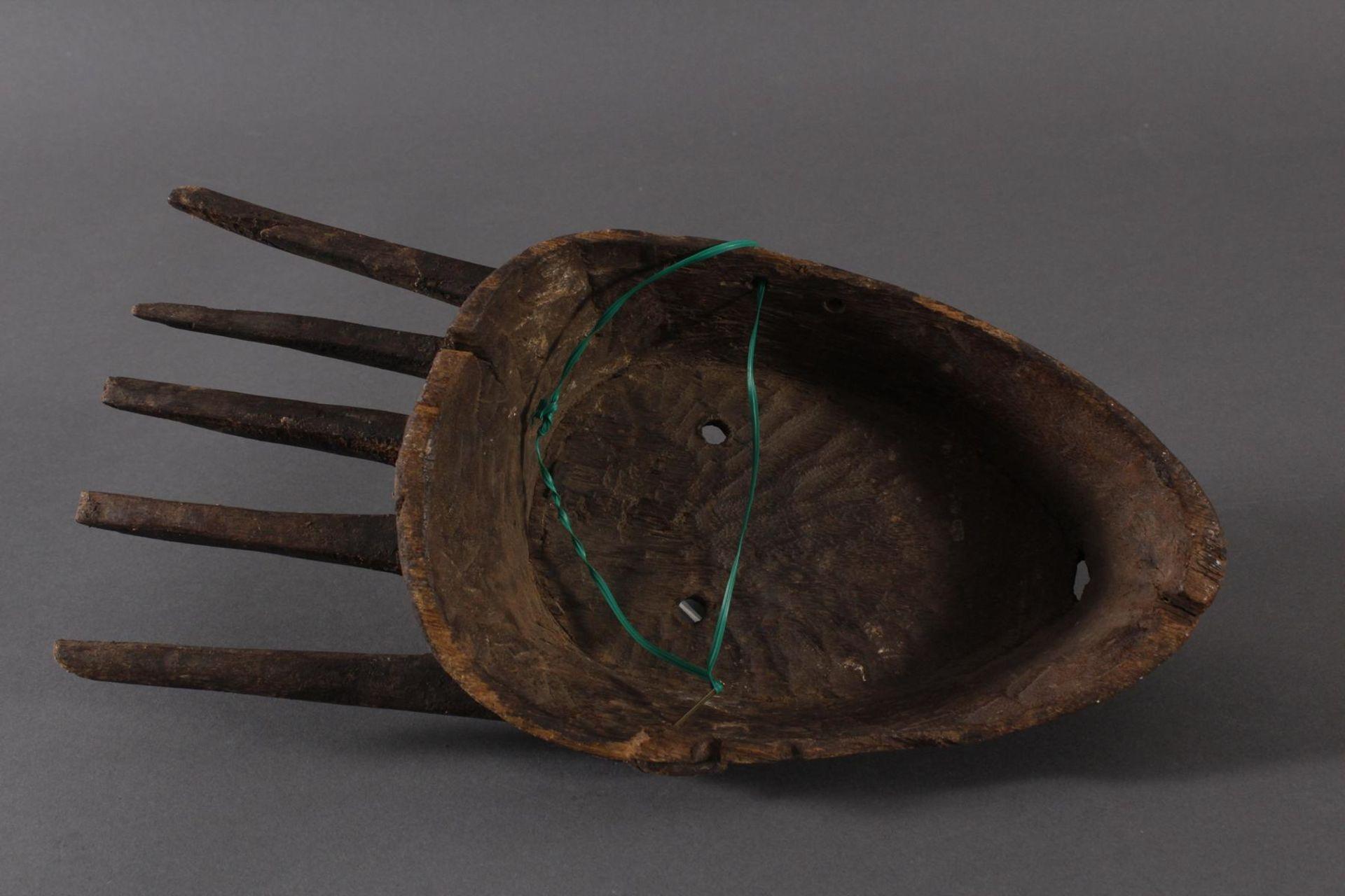 Antike Maske, Marka, Mali 1.Hälfte 19. Jh.Holz geschnitzt, spitz ovales, schlankes Gesicht mit - Bild 6 aus 6