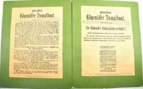 2 EXTRABLÄTTER HAUPTMANN VON CÖPENICK, Cöpenicker Dampfboot v. 16. u. 26. Oktober 1906, betr.