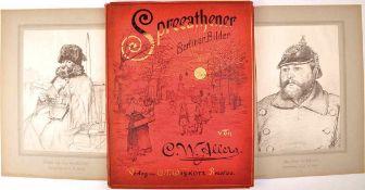 """KÜNSTLERMAPPE """"SPREEATHENER"""" """"Berliner Bilder von C.W. Allers"""", Verlag Wiskott, Breslau um 1900,"""