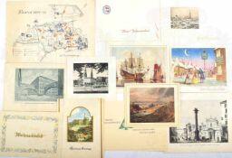KONVOLUT WEIHNACHTS- UND NEUJAHRSKARTEN, ca. 140 Stück, 1950-1965, Deutschland, Italien, Dänemark,