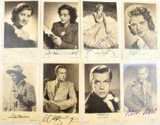 43 FOTO-AK SCHAUSPIELER UND SCHAUSPIELERINNEN, 30er-50er Jahre, alle m. OU, u.a. Camilla Horn,