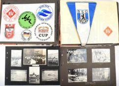 FOTOALBUM BSC HELLAS 09, bzw. SSC Hellas 4 Albumseiten 1931-1938, sonst etwa 1950-1990, dabei Wimpel