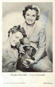 ROMY SCHNEIDER UND MAGDA SCHNEIDER, dt. Schauspielerinnen (1938-1982 bzw. 1909- 1996), 2 Tinten-OU