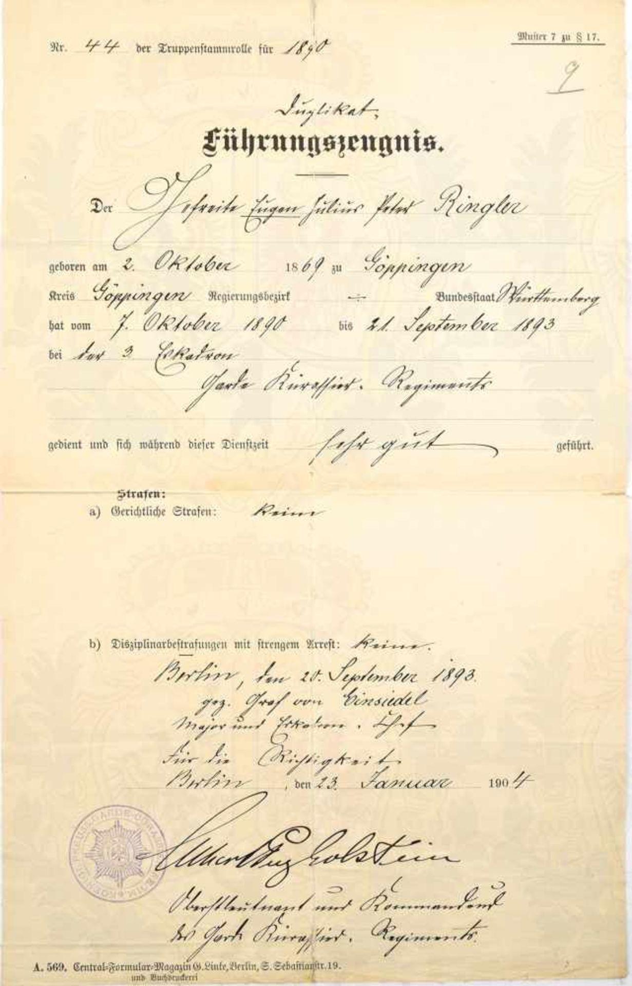 Los 27 - SCHLESWIG-HOLSTEIN SONDERBURG-GLÜCKSBURG, Prinz Albert zu, (Generalleutnant, 1863-1948, im WK Gen.-