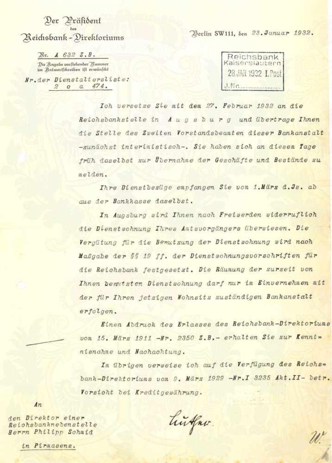 Los 16 - LUTHER, HANS, (1879-1962), dt. Politiker u. 1925-1926 Reichskanzler d. Weimarer Republik, Tinten-