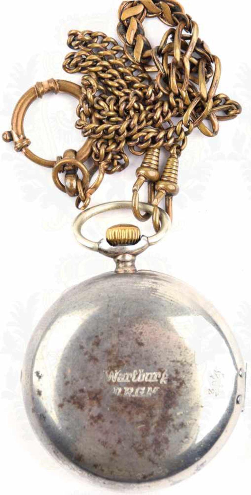 """Los 47 - TASCHENUHR REMONTOIRE CYLINDRE 6 RUBIS, um 1900, Silber, Punzen """"800"""", Halbmond u. Krone,"""