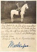 MACKENSEN, August von (1849-1945), Kgl. Preußischer Generalfeldmarschall, Heerführer u.