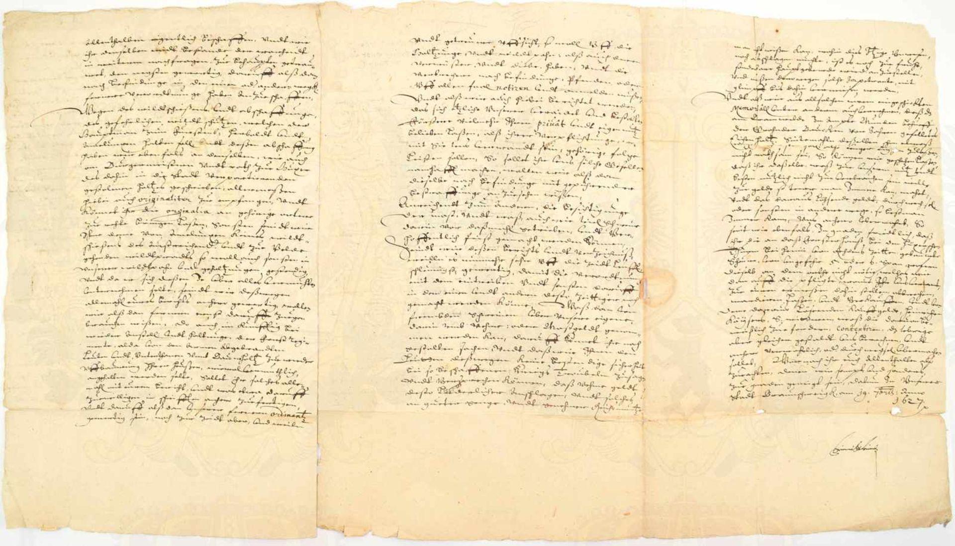 """Los 1 - FRIEDRICH ULRICH, letzter Herzog v. Braunschweig-Wolfenbüttel (1591-1634), OU """"Friedrich Ulrich"""","""