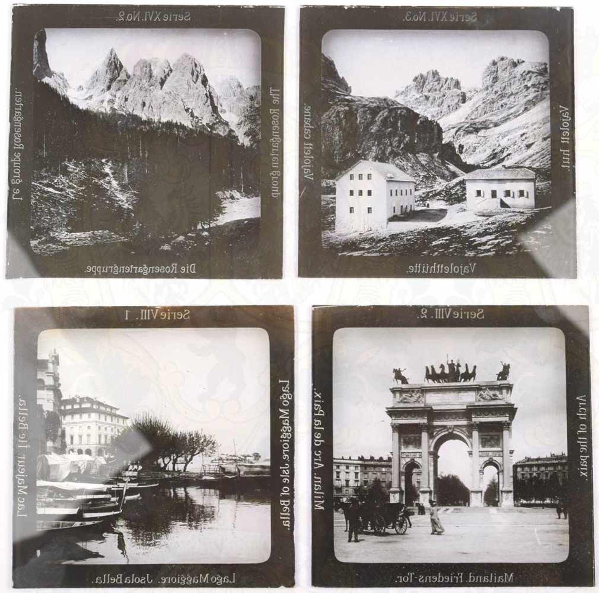 Los 60 - 45 GLASDIAS ITALIEN UND DOLOMITEN, Serie 8, St. Markuskirche v. Venedig, Rialto Brücke, Friedens Tor