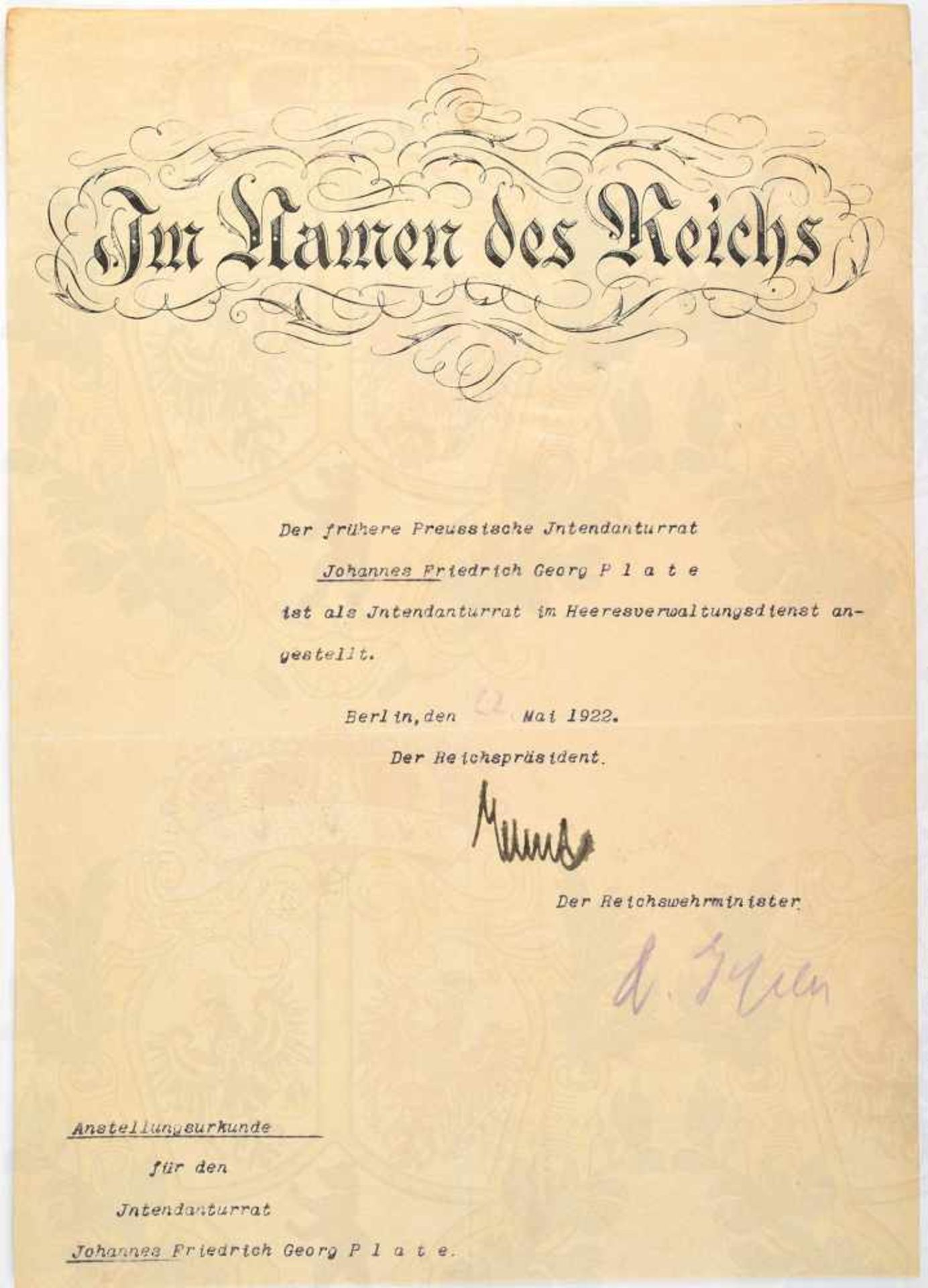 Los 8 - EBERT, FRIEDRICH, (1871-1925), dt. Politiker u. 1919-1925 erster Reichspräsident d. Weimarer