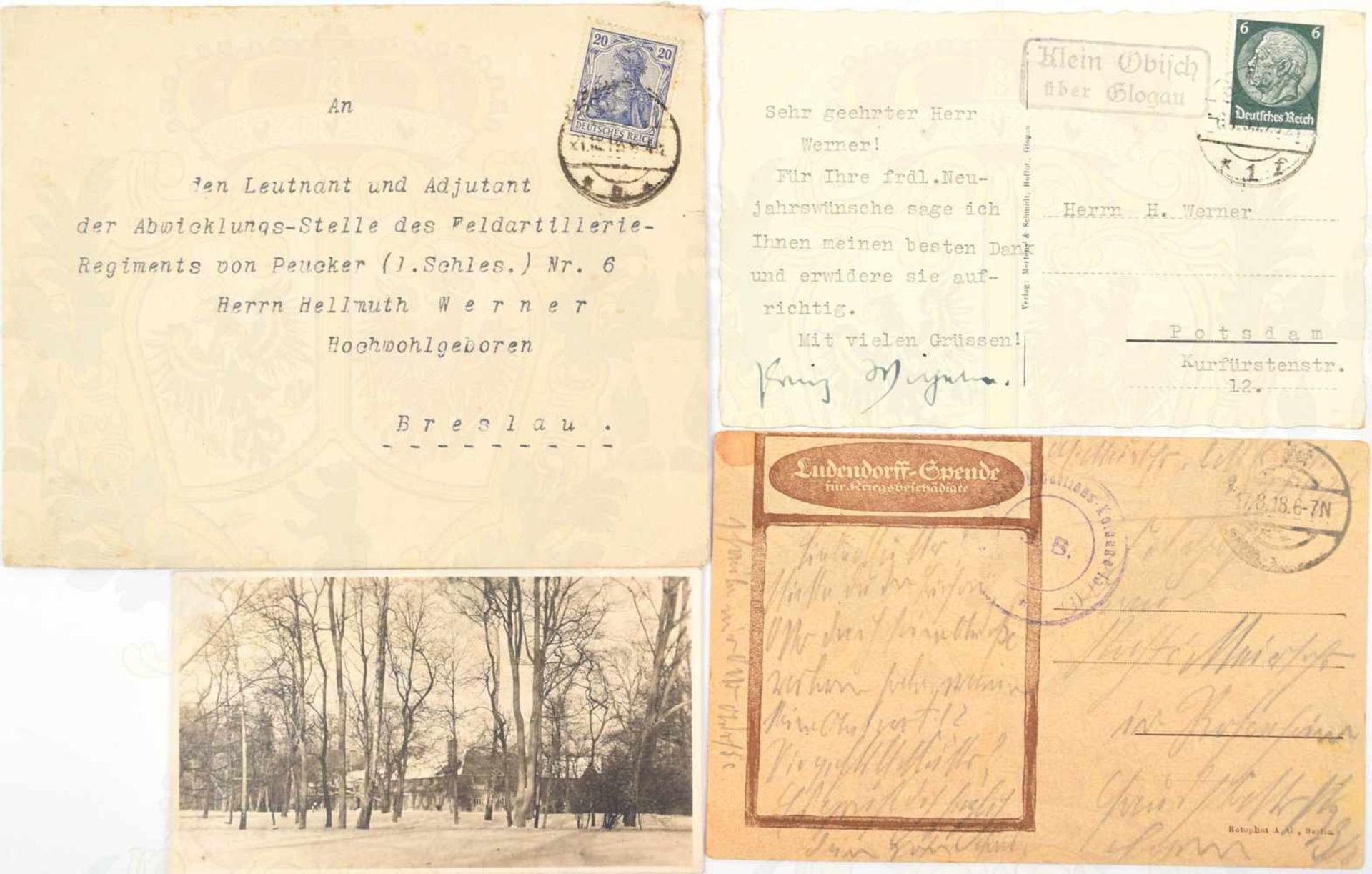 """Los 15 - WILHELM, PRINZ VON PREUßEN, (1906-1940), ältester Sohn d. Kronprinzen Wilhelm, Tinten OU """"Prinz"""