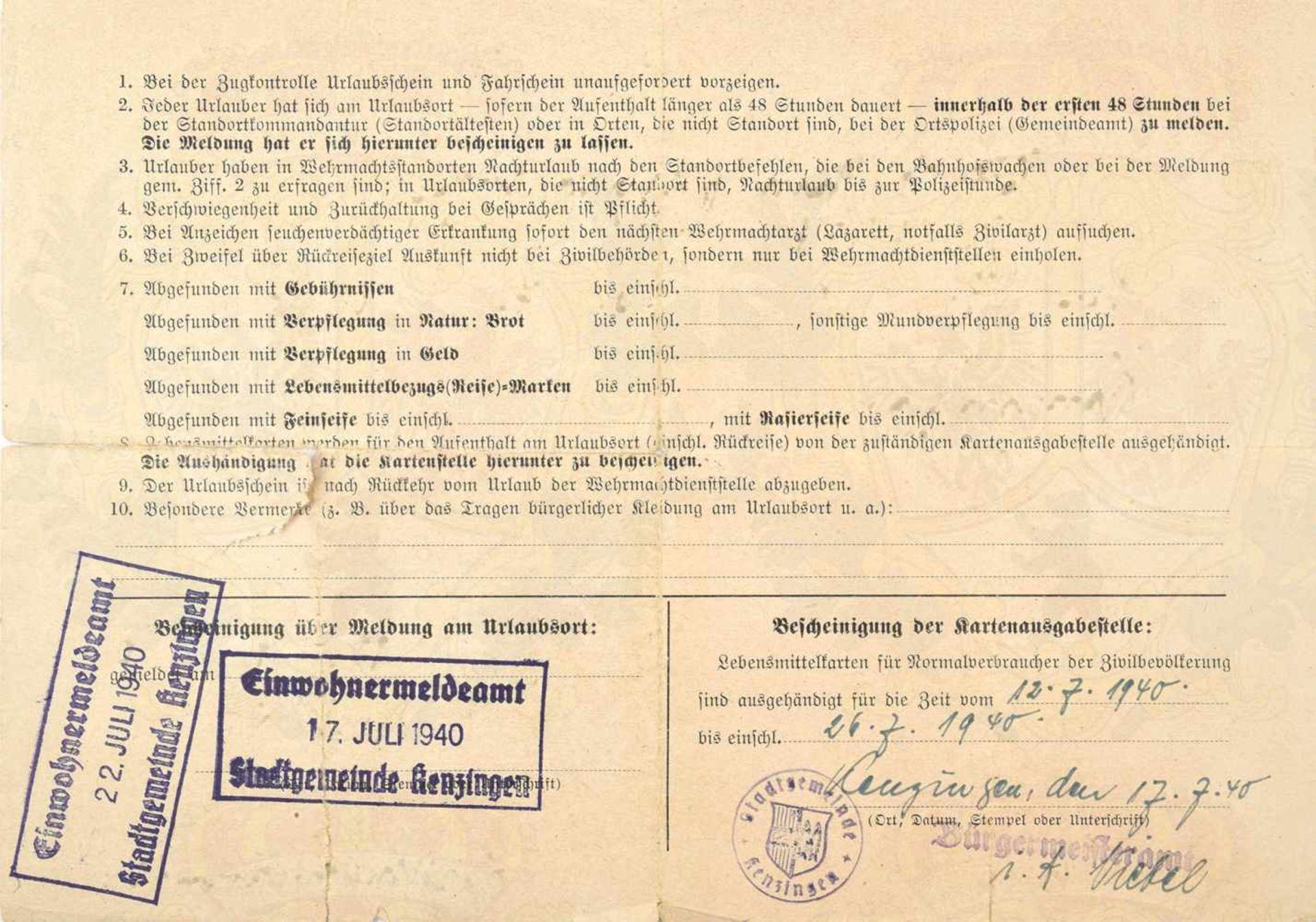 Los 7 - PRIEN, GÜNTHER, (1908-1941, im Nordatlantik verschollen), Korvettenkapitän u. Kdt. von U-47, EL
