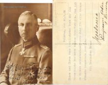 OSKAR PRINZ VON PREUßEN, (1888-1958), Sohn Kaiser Wilhelms II., 2 Tinten OU bzw. eigenhändige