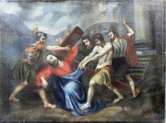 """Altmeister 16.Jhdt. """" Christus fällt unter dem Kreuze """"<"""