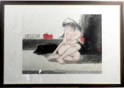 """Chinesischer Künstler """" Akt """"<"""