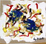 """Signiert """" Mitchell """" Abstrakte Komposition"""