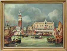 "Ölgemälde "" Blick auf Piazza San Marco ""<b"