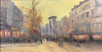 "Cortes, Edouard ( 1882 - 1969 ) attr. "" Pariser Straßenszene ""<"