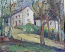 """Deutscher Expressionist um 1920 """" Waldgasthof """""""