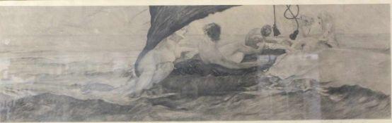 """Einschlag, Eduard ( 1879 - 1945 ) """" Triton und Meeresnymphe """""""