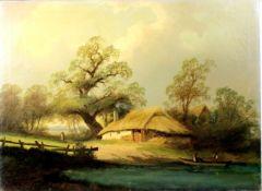"""Flämischer Künstler um 1850 """" Bauernkarte """"<b"""