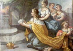 """Francken, Frans attrib. ( 1581 - 1642 ) """" Salomos Götzendienst """"<"""