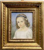 "Huber-Sulzemoos, Hans ( 1873 - 1951 ) "" Mädchenporträt ""<b"