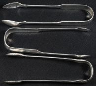 A pair of early 19th century Scottish Provincial silver sugar bows, 14.5cm long, William