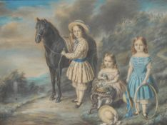English School (19th century) Elizabeth, Bessie and Anne Clark of East Grinstead indistinctly signed