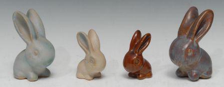 A Bourne Denby Danesby Ware Marmaduke rabbit, orient glaze, size 2, 13cm, printed mark; another