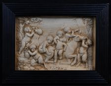 A 19th century composition bas relief panel, in the Grand Tour taste, cast after the Antique with
