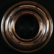 A 19th century copper ring jelly mould, 17cm diam, c.1840