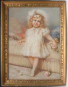 E**Zurba? (English School) Blue Eyed Girl signed, pastel, 80cm x 48cm