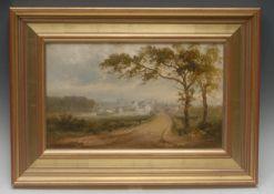 David Payne (1843-1894) Aman, Dumfrieshire signed, oil on canvas, 24cm x 39cm