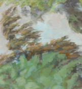 Contemporary School Woodland Foliage signed with initals K.W., oil on board,