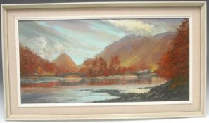 Arthur Terry Blamires (Bn.1930) Borrowdale signed, oil on hardboard, 38.5cm x 79cm